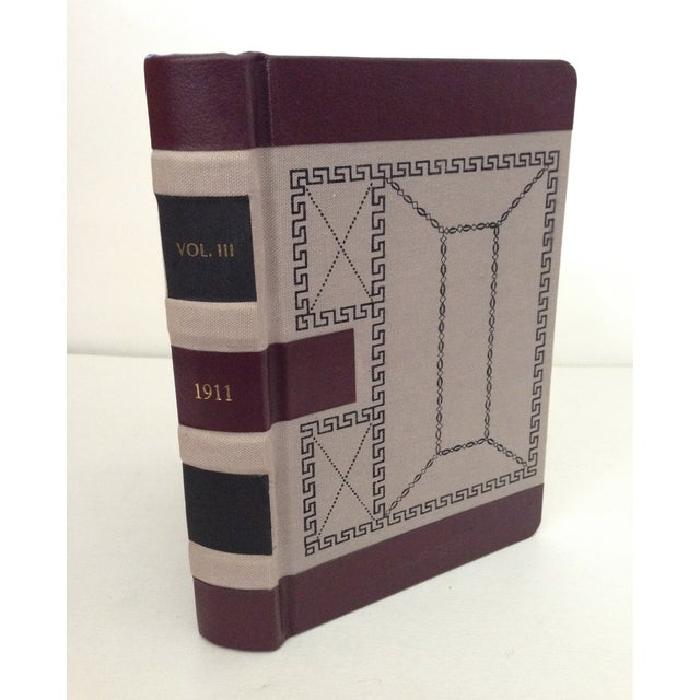 Decorative Leather Bound Books/Journals - S/3 For Sale - Image 5 of 6