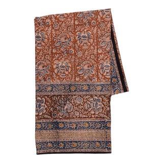 Iznik Floral Print Tablecloth, 6-seat table - Ocher Rust For Sale