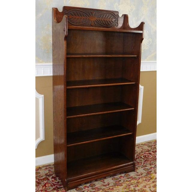 Antique 1920's Art-Nouveau Oak Bookcase - Image 3 of 7