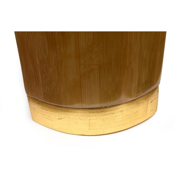 Ron Seff Starburst Bamboo Marquetry Cocktail Table ca. 1980 For Sale - Image 9 of 10
