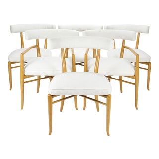 1950s Vintage T.H.Robsjohn-Gibbings for Widdicomb Dining Chairs- Set of 6 For Sale