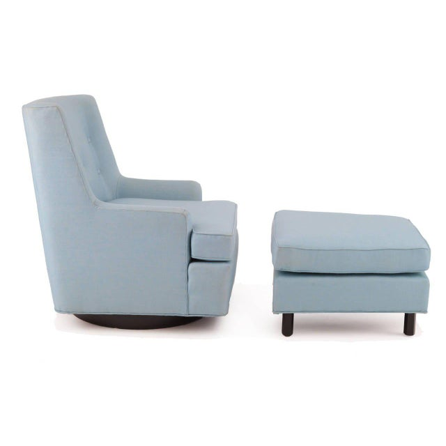 Edward Wormley Dunbar Lounge Chair and Ottoman For Sale In Phoenix - Image 6 of 8