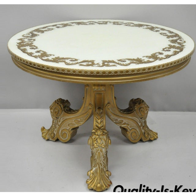 Vintage Mid-Century French Rococo Style Coffee Table For Sale - Image 12 of 12