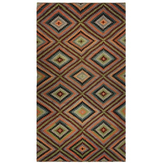 """Eye Dazzler"" Vintage Turkish Kilim Flatweave 