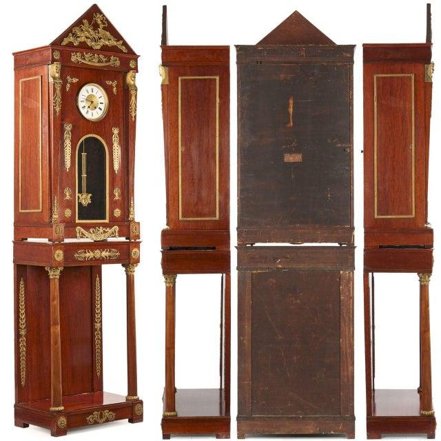 Circa 1910 Egyptian Revival Empire Style Mahogany Longcase Clock - Image 2 of 10