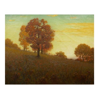 Autumn Landscape Antique Painting by Clark Summers Marshall (Baltimore, 1862-1944) For Sale