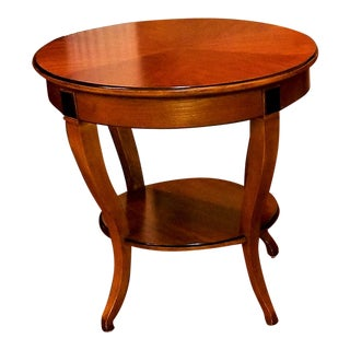 Neoclassical Hickory Chair Round Side Table For Sale