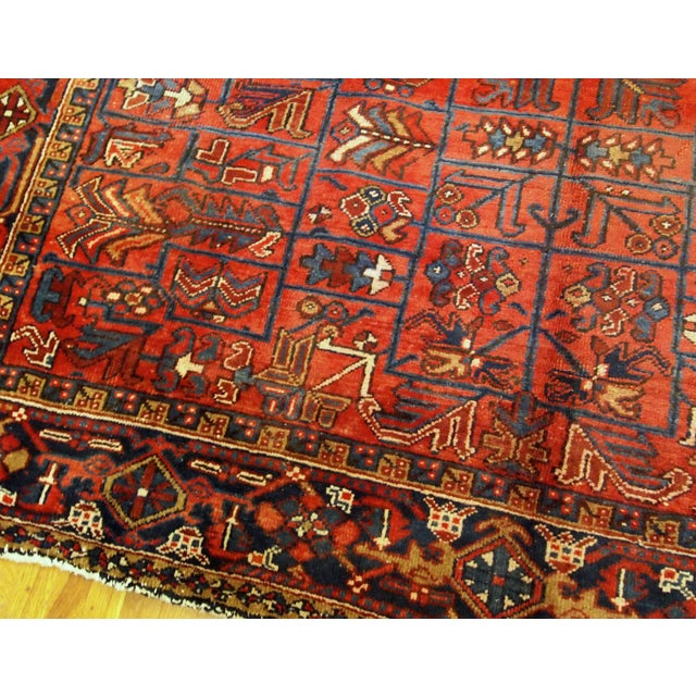 Textile 1900s Handmade Antique Persian Heriz Rug 7.3' X 10.1' For Sale - Image 7 of 11