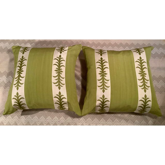 Contemporary Pillow Covers in Clarence House Fabric - A Pair For Sale - Image 10 of 10