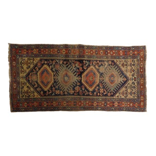 Antique Hand Knotted Persian Kurdish Rug For Sale