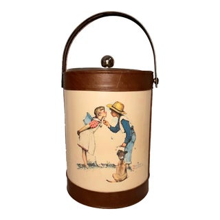 Mid-Century Norman Rockwell Ice Bucket For Sale