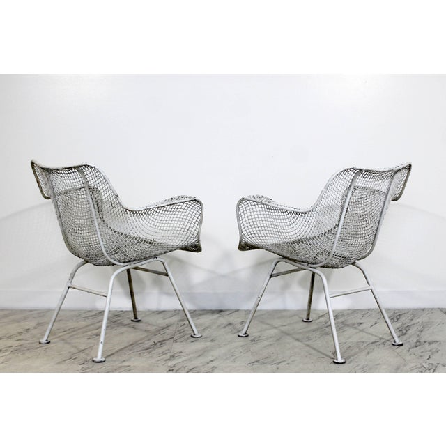 Contemporary Mid-Century Modern Russell Woodard Sculptura Outdoor Patio Armchairs - a Pair For Sale - Image 3 of 7