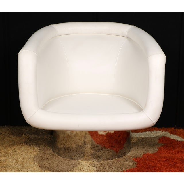 Leon Rosen for Pace Collection Swivel Lounge Chair For Sale - Image 9 of 10