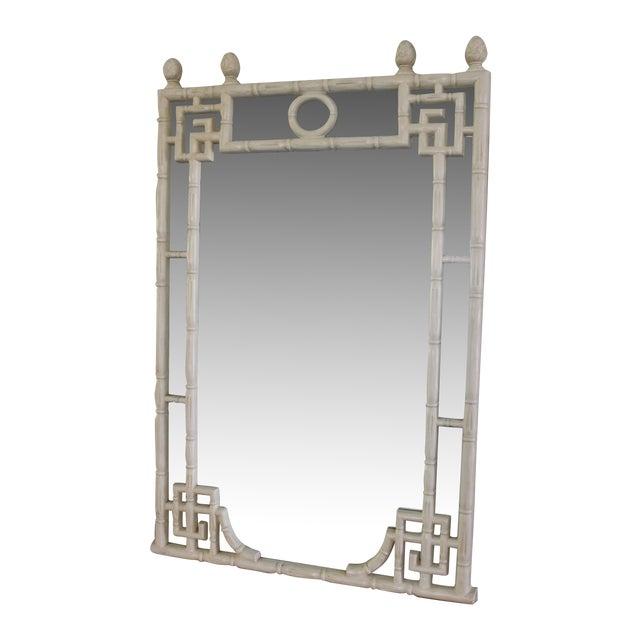 Vintage Greek Key Faux Bamboo Mirror - Image 1 of 11