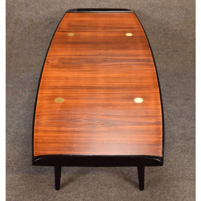 Art Deco 1960s Danish Modern Rosewood Coffee Table For Sale - Image 3 of 9