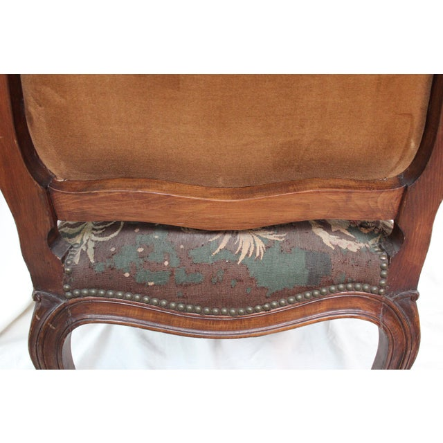 French Louis XV Walnut Arm Chair - Image 10 of 10