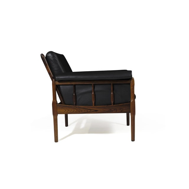 Torbjørn Afdal Rosewood Lounge Chairs - a Pair For Sale - Image 9 of 12