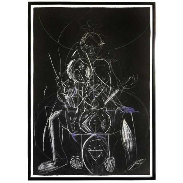 Chalk James C. Harrison Bringing Up Demons Framed Drawing For Sale - Image 7 of 7