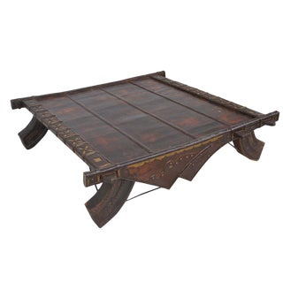 Vintage Asian Bullock Cart Coffee Table For Sale