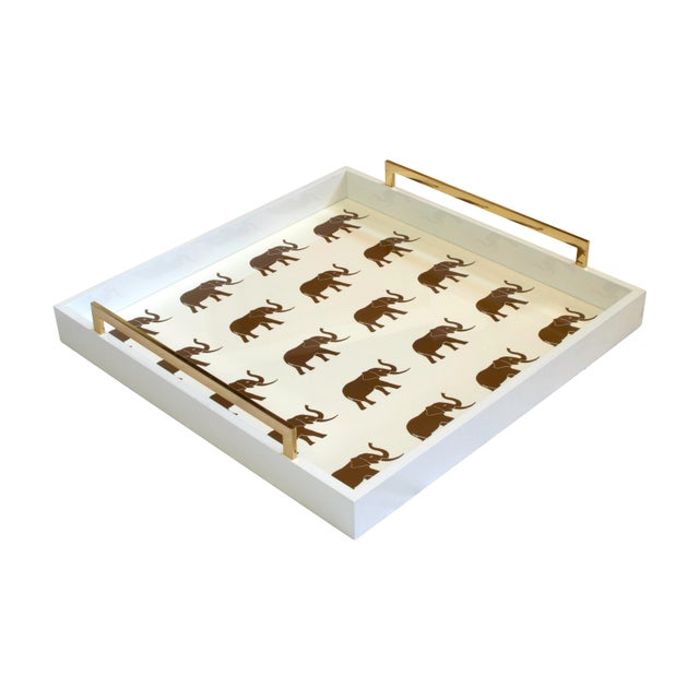 Modern Elephant 'Meru' Tray For Sale - Image 3 of 3