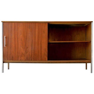 1965 Paul McCobb Walnut Cabinet / Credenza For Sale