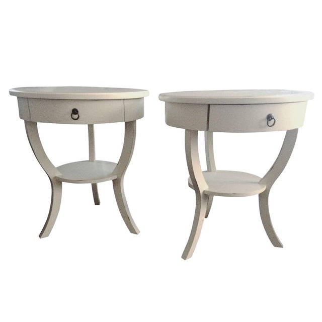 Pottery Barn White Nightstands - A Pair - Image 1 of 5