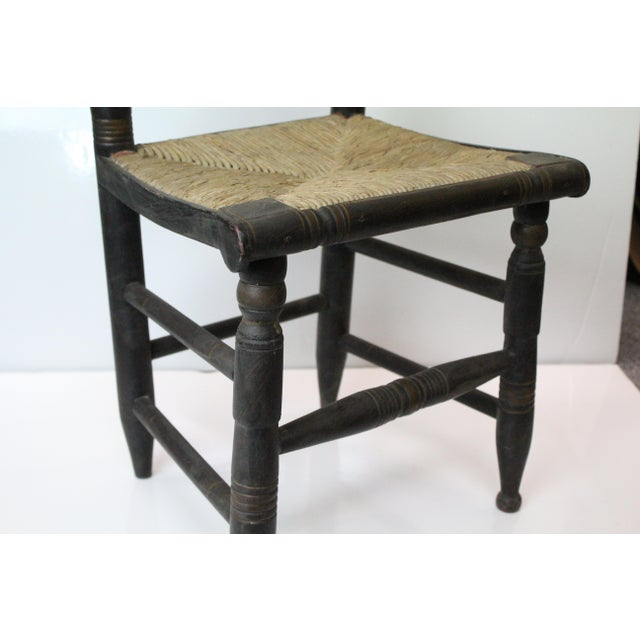 Americana Early 20th Century Antique Children's Woven Seat Chair For Sale - Image 3 of 6