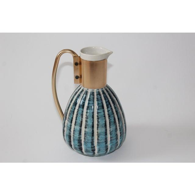 1957 Vintage C Miller Mid Century Ceramic Warming Carafe Decanter - Image 10 of 10