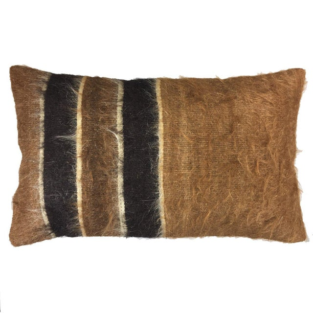 "Rug & Relic, Inc. Organic Mid-Century Kilim Lumbar Pillow | 12 X 20"" For Sale - Image 4 of 4"