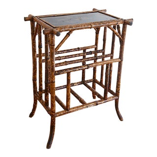 Regency Tortoise Bamboo Japanned Top Table
