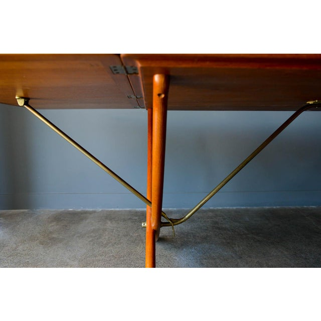 Brown Hans Wegner for Andreas Tuck Model At-304 Dining Table, Circa 1955 For Sale - Image 8 of 13