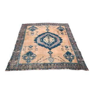 1940s Vintage Turkish Hand-Knotted Rug - 5′6″ × 7′1″ For Sale