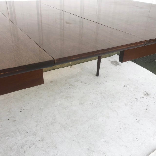 Wood Mid-Century Dining Table With Leaf For Sale - Image 7 of 13