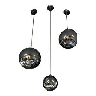 Ultra Modern Tom Dixon Mirror Ball Pendent Chrome Trio