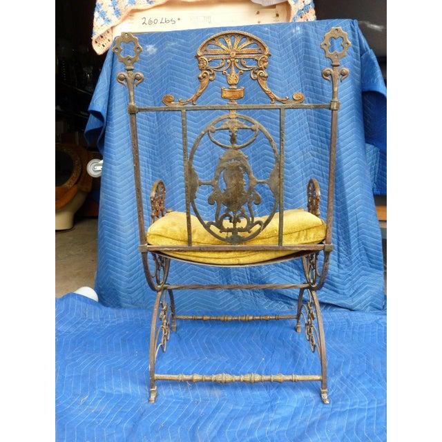 Oscar Bach Mid-Century Modern Oscar Bach Bronze and Iron Armchair For Sale - Image 4 of 7