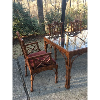1970s Chippendale American of Martinsville Pagoda Dining Set - 5 Pieces Preview