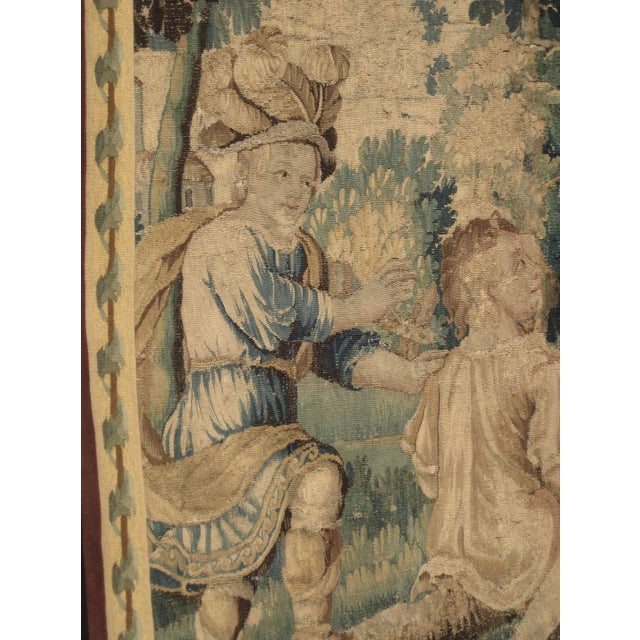 17th Century French Louis XIV Aubusson Tapestry Wall Hanging For Sale - Image 6 of 8