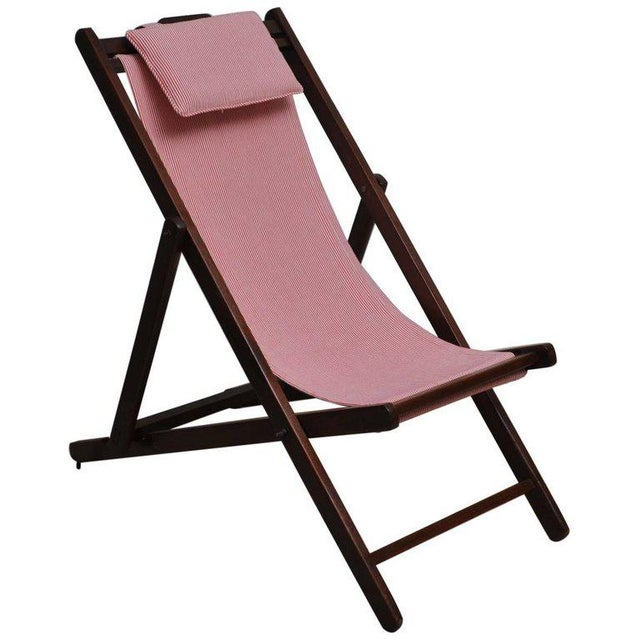 Folding and Adjustable Sling-Back Lounge Chair, 1940s British Campaign For Sale - Image 10 of 10