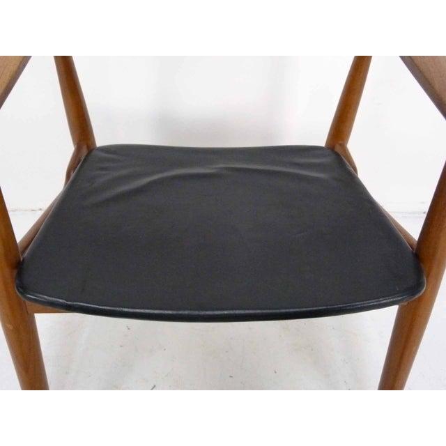 Danish Modern Teak Barrel Arm Chair - Image 8 of 10