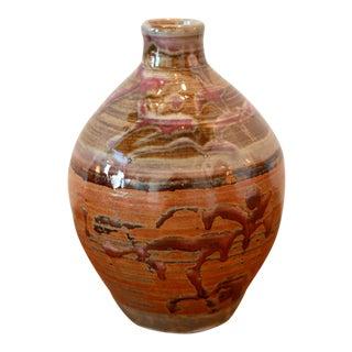 Multicolored Studio Pottery Ceramic Vessel For Sale
