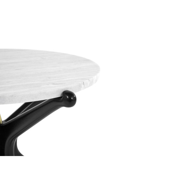 Ebonized Gazelle Side Table For Sale In New York - Image 6 of 8