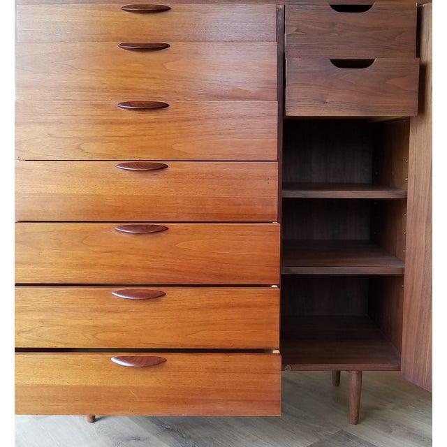 Wood Mid 20th Century Danish Modern Teak Gentleman's Chest For Sale - Image 7 of 13