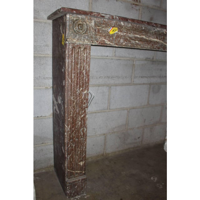 French, Louis XVI Style Marble Mantel For Sale - Image 4 of 7