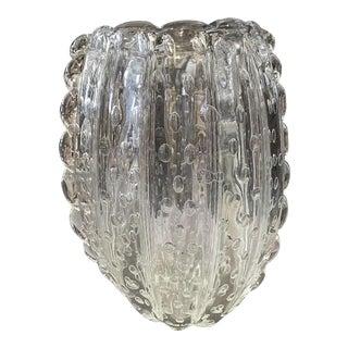 1960s Italian Mid-Century Modern Barovier & Toso Translucent Murano Glass Vase For Sale