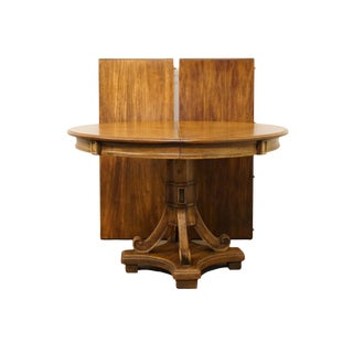 "20th Century Traditional Stanley Furniture 80"" Pedestal Dining Table For Sale"