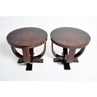 Walnut Veneer Round Tables- A Pair Preview
