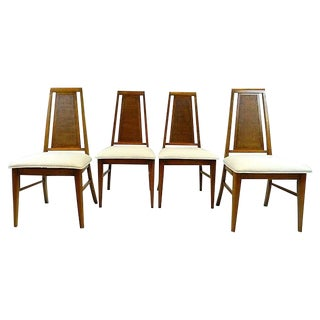 Mid Century Modern Upholstered 'Hooker' Dining Chairs - Set of 4 For Sale