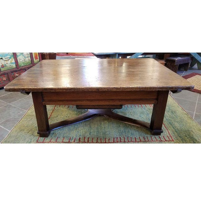 Rustic French Oak Coffee Table For Sale - Image 4 of 10