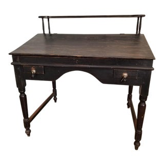 Antique Traditional Secretary Desk With Shelf For Sale
