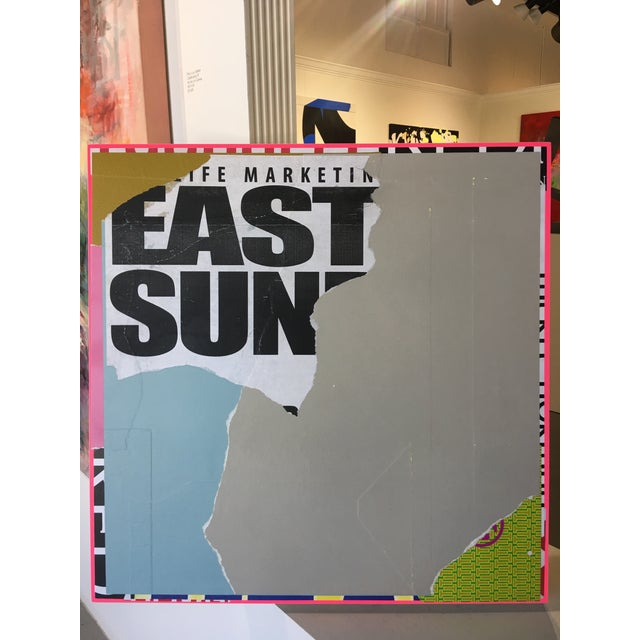 "2010s Contemporary Mixed Media on Panel Collage ""EastSide"" by William Finlayson For Sale - Image 5 of 7"